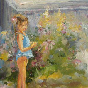 Petite fleur, huile, ©