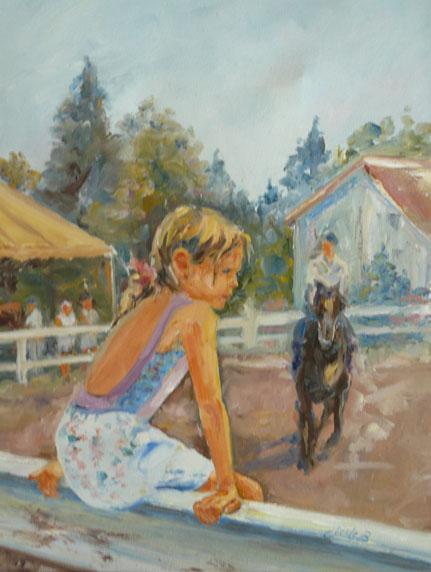 fillette, course de chevaux
