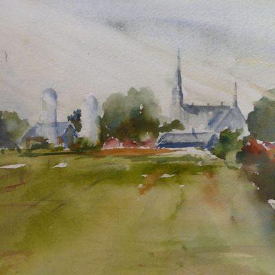 La Bouteillerie, aquarelle  sur papier, ©