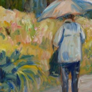 Jour de pluie, huile, ©