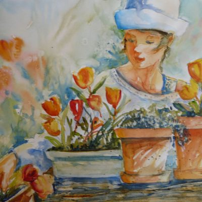 Jardiner, aquarelle©