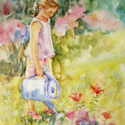 Éloïse, aquarelle sur toile ©
