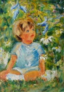 Fleurs Petits oiseaux, acrylique, pastel à l'huile, crayons de couleurs...