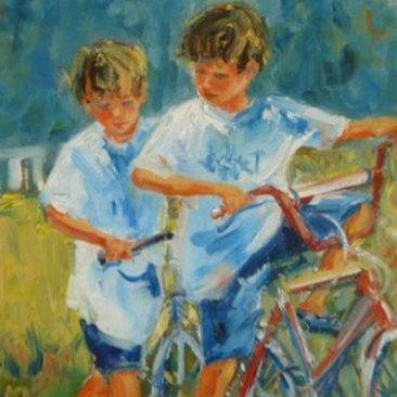 Jour d'été à bicyclette