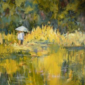 L'étang, acrylique, ©