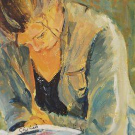 Adolescente qui lit et prépare ses examens