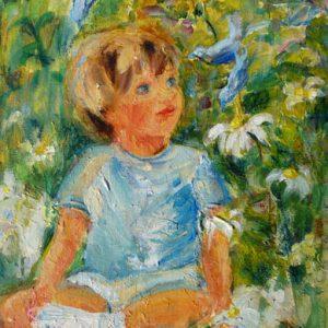 Fleurs Petits oiseaux, acrylique, pastel à l'huile, crayons de couleur...©