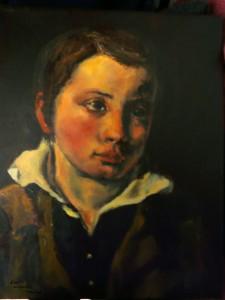 Copie d'un portrait d'enfant d'après Géricault