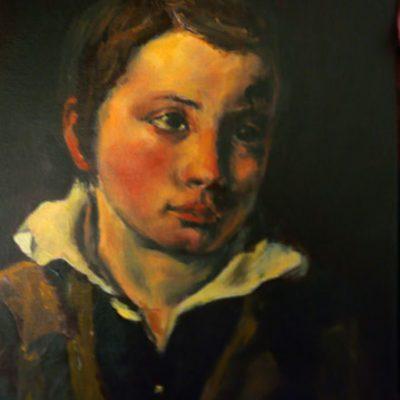 D'après Géricault, copie de Portrait d'enfant, huile, Cécile Beaulieu