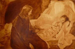 La fille de Jaïre que Jésus ressuscita.